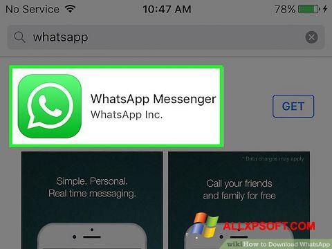 Ảnh chụp màn hình WhatsApp cho Windows XP