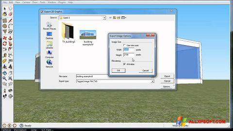 Ảnh chụp màn hình Google SketchUp cho Windows XP
