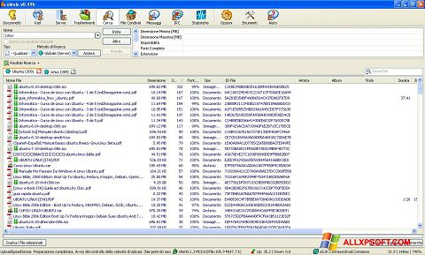 Ảnh chụp màn hình eMule cho Windows XP