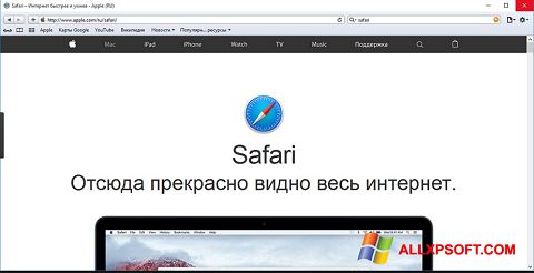 Ảnh chụp màn hình Safari cho Windows XP