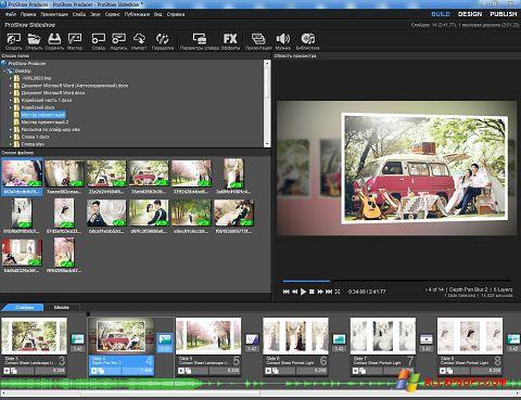Ảnh chụp màn hình ProShow Producer cho Windows XP
