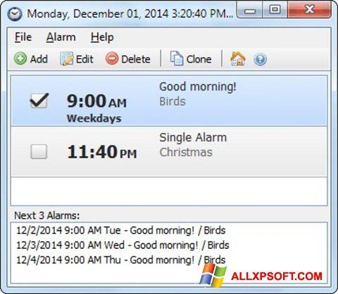 Ảnh chụp màn hình Free Alarm Clock cho Windows XP
