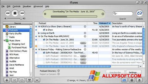 Ảnh chụp màn hình iTunes cho Windows XP