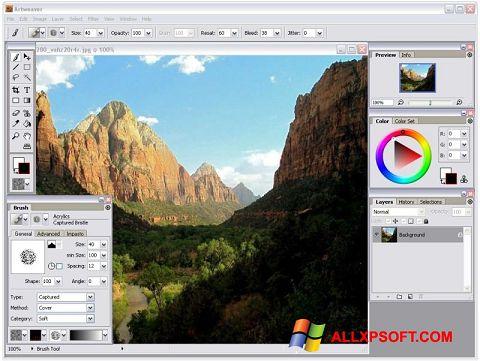 Ảnh chụp màn hình Artweaver cho Windows XP