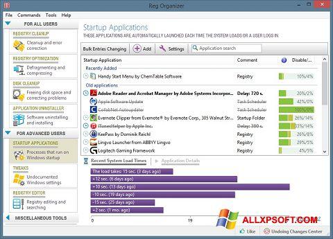 Ảnh chụp màn hình Reg Organizer cho Windows XP