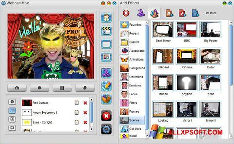 Ảnh chụp màn hình WebcamMax cho Windows XP