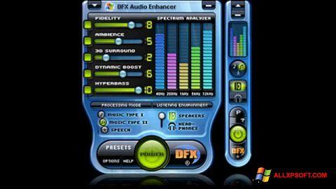 Ảnh chụp màn hình DFX Audio Enhancer cho Windows XP
