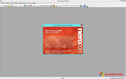 Ảnh chụp màn hình Nero cho Windows XP