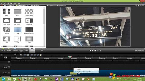Ảnh chụp màn hình Camtasia Studio cho Windows XP