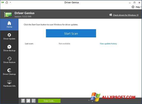 Ảnh chụp màn hình DriverScanner cho Windows XP