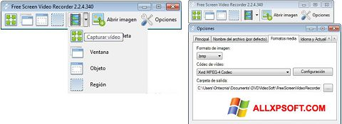 Ảnh chụp màn hình Free Screen Video Recorder cho Windows XP