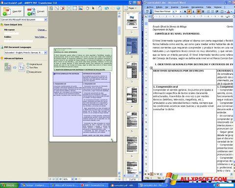 Ảnh chụp màn hình ABBYY PDF Transformer cho Windows XP
