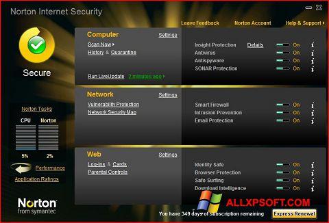 Ảnh chụp màn hình Norton Internet Security cho Windows XP