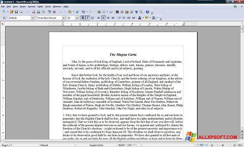 Ảnh chụp màn hình OpenOffice cho Windows XP
