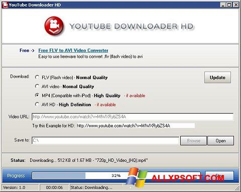 Ảnh chụp màn hình Youtube Downloader HD cho Windows XP