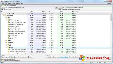 Ảnh chụp màn hình GoodSync cho Windows XP