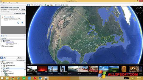 Ảnh chụp màn hình Google Earth cho Windows XP