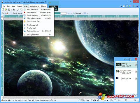 Ảnh chụp màn hình Paint.NET cho Windows XP