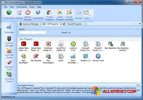 Ảnh chụp màn hình Revo Uninstaller Pro cho Windows XP